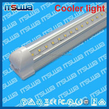 v shape 1.2m Linear LED tube, short-circuit protection function, Certified Products, walking cooler light