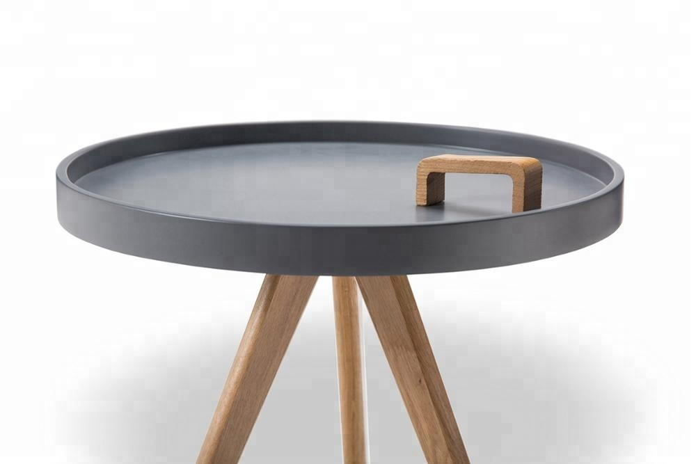 Modern MDF top wood legs coffee table end table