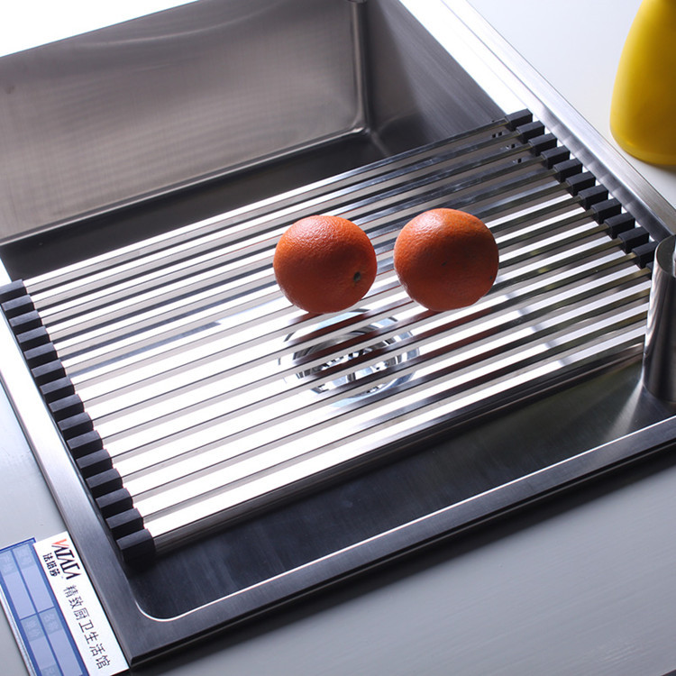 Awesome Customized Kitchen Sink Accessories Stainless Steel Rack