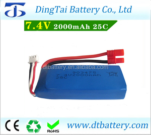 2s 7.4v rc lipo battery 7.4v 2000mah syma x8c battery with JST connector