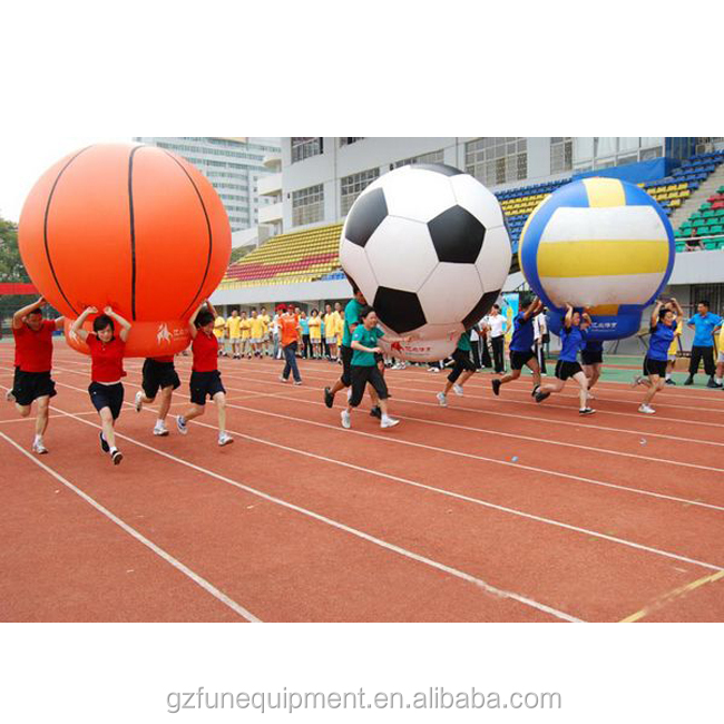 Inflatable football race