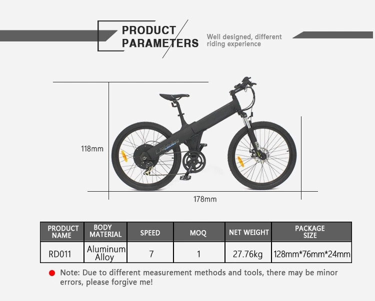 2016 New Product OEM Powerful  Long Range Speed Cheap Ladies 26 Inch Electric Bike City Ebike