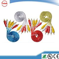 wholesale alibaba 3 RCA to 3 RCA cable y splitter