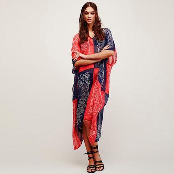 Plus Size Bohemian Printed Chiffon Maxi Dresses - Buy Bohemian Dress ...