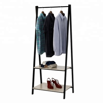 Decorative metal garment rack Bedroom clothes display rack with 2 shelving,  View clothes display rack, HOME BI Product Details from Homebi Technology  ...