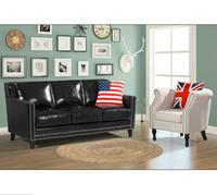 Leather modern classic sofa set home furnishing