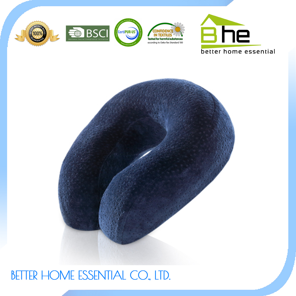 New Design Memory Foam Plush personalized travel neck pillow