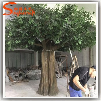Chinese Quality Artificial Tree Factory Of Banyan Home Decoration Items Making Trees