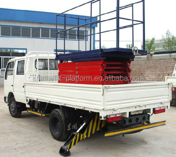 Factory Supply truck mounted elevating platform scissor aerial lift