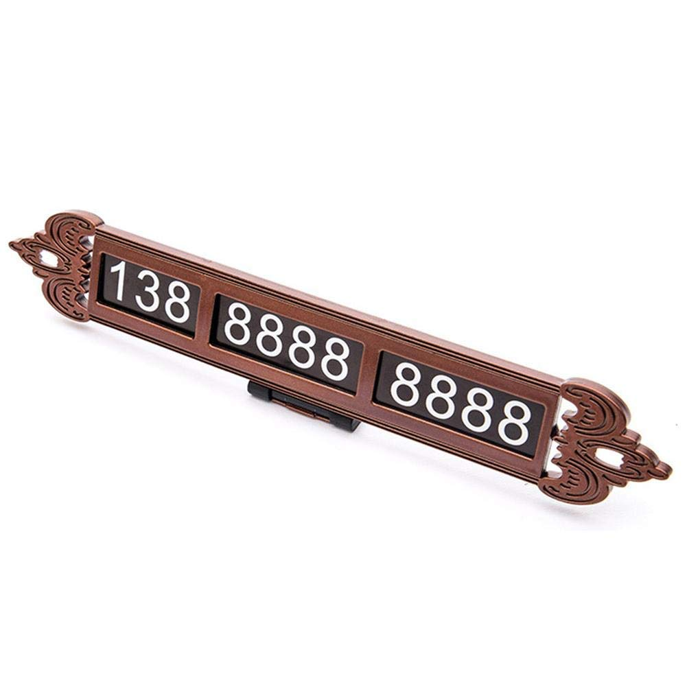 YUANNIN Luminous Temporary Car Parking Card Phone Number Plate Notification Car Styling