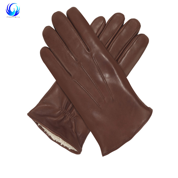 Sheepskin Suede Gloves Womens Winter Thick Warm Parrot Rabbit Fur Lining Girls Black Bow Style Leather Finger Gloves Back To Search Resultsapparel Accessories