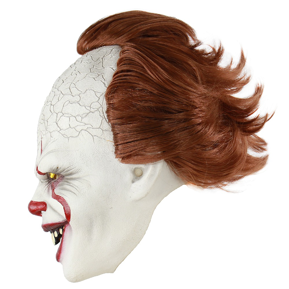 Nouveau Stephen King Masque Latex Masque Effrayant Halloween Cosplay Masque de Clown