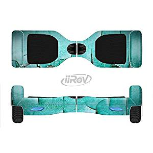 The Peeling Teal Paint Full-Body Wrap Skin Kit for the iiRov HoverBoards and other Scooter (HOVERBOARD NOT INCLUDED)