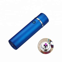Cylinder-shaped Electric Lighter, Cigarette colorful Lighter Factory Price Dual Arc Lighter