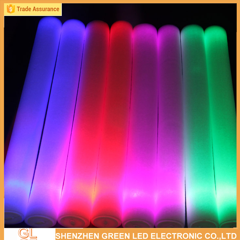 led foam flashing light stick party,concert,wedding flashing glow stick manufacturer cheapest version