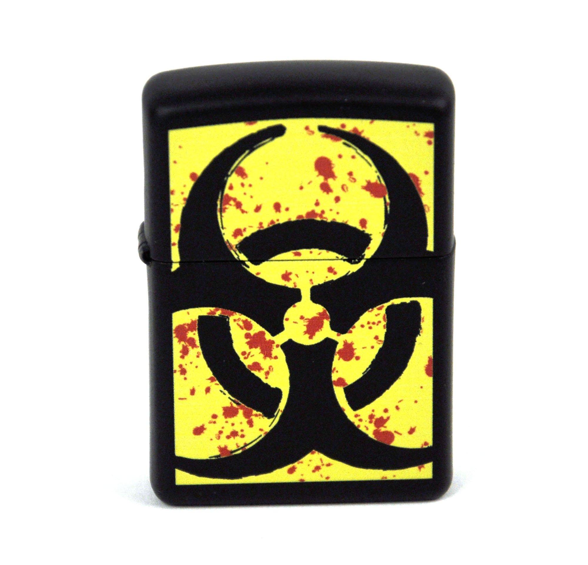 Hazardous Biohazard Black Matte Zippo Lighter Z24330