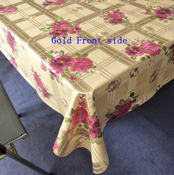 House Decor Plastic Tablecloth Rectangular Table Cover For Dining