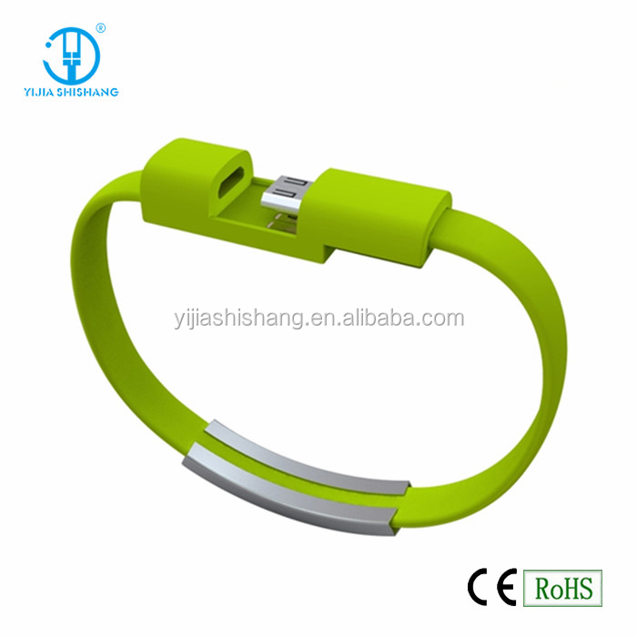 Best selling mini usb data cable with bracelet style, Hot micro usb cable for Samsung