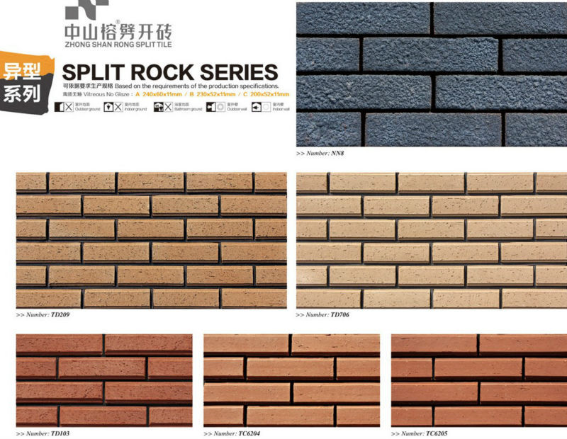 Rustic Style Red Full Body Brick Facade Terracotta Tiles Building Construction Materials Lightweight Material Decorative