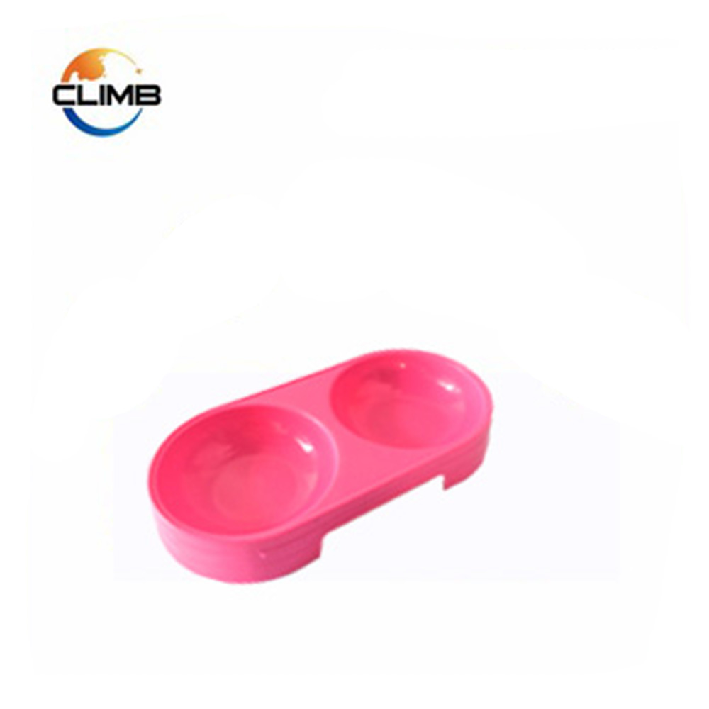 Colorful plastic double round shape pet bird water food fountain feeder for sale