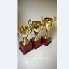 Mini Gold Cheap Plastic Trophies in Party Bag stuffers for Boys & Girls, Children's Prizes, Motivational Reward