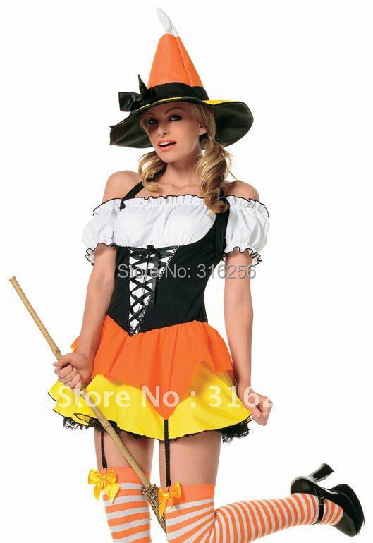 Simply Adult candy corn costume halloween message