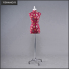 the fashion mark fabric display dress form linen pattern calico mannequin bust on wheels stand