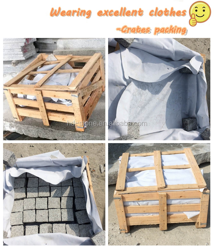 Outdoor Paving Natural Basalt Stone Black Granite Cobble Stone ,Cube Stone Price