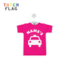 custom sublimation wording printing car mini t-shirt for promotion
