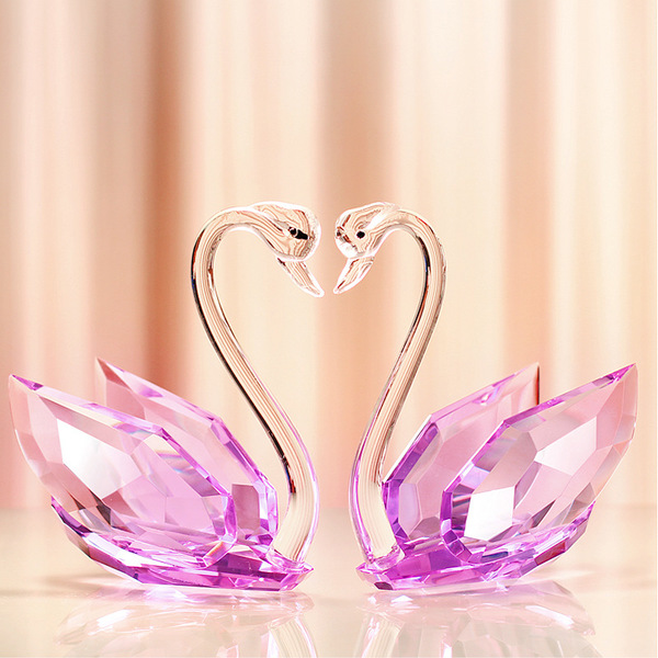 Home & Garden Ingenious Crystal Glass Rose Flower Figurines Craft Wedding Valentines Day Favors And Gifts Souvenir Table Decoration With Box