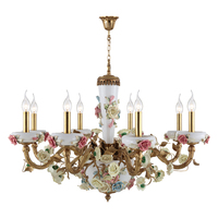 Colorful Wedding Rose Flower Chandelier White Pink Blue Yewlow Decor Ceiling Lights Girl Room Lamp