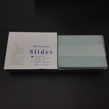 different types medical prepared 7103 glass microscope slides