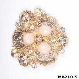 Magnetic Brooch Clip Gold Tone Accessory Scarves Shawl(MB210-5)