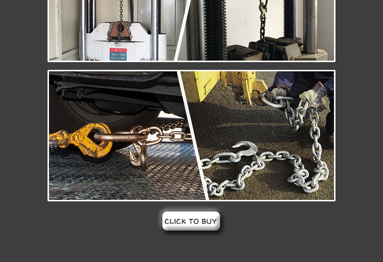 G70 Galvanized Trailer Lashing Tie Down Binder Chain with Grab Hooks