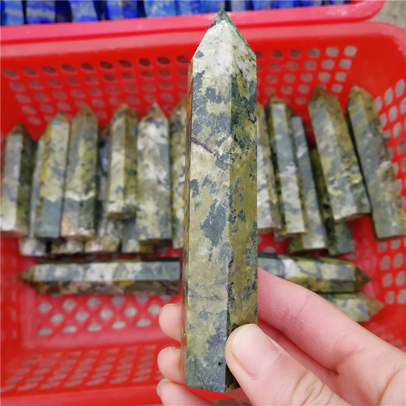 Wholesale Green Jasper Quartz Wand Points , Crystal Healing Point