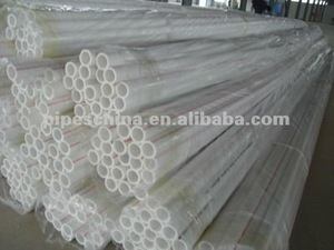 20mm 25mm pvc electrical pipes 1.3mm thickness