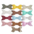 Metallic Color Faux Leather Hair Bow without clips Baby Girls Boutique Leather Hair Bow