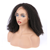 Peruvian hair human hair unprocessed 4b curly remy glueless swiss full lace wig