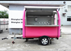 CE Approved used food trucks for sale in germany, gas chest deep freezers cart, frozen yogurt trailer