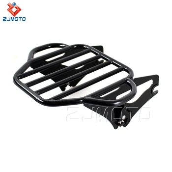 New Arrival High Quality Steel Black Motorcycle Detachable Luggage Rack For 2009-2017 Harley Touring Road King