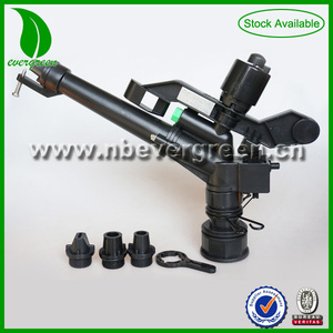 Hot sale POM irrigation 1-1/2'' big rain gun plastic sprinkler water with full set nozzle
