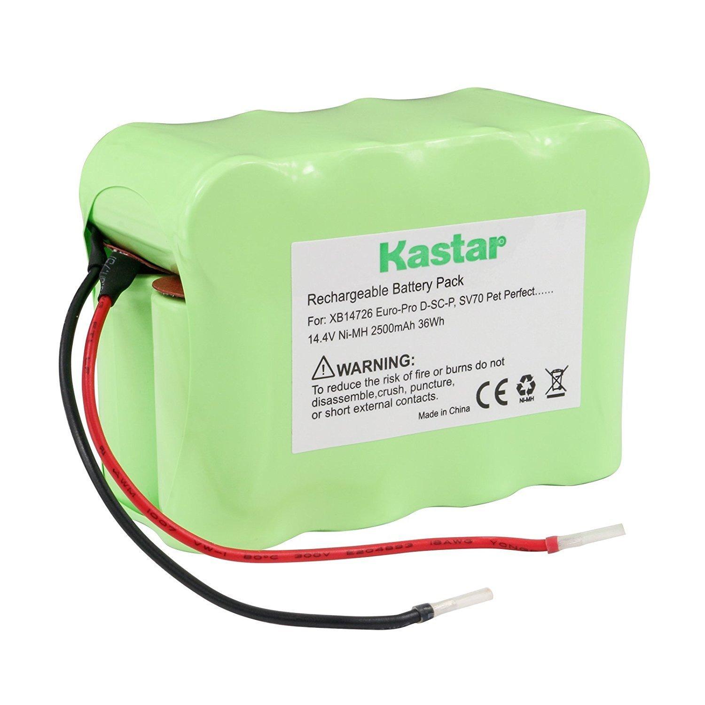 Kastar SV70 Battery (1 Pack), Ni-MH 14.4V 2500mAh, Replacement for Euro-Pro D-SC-P, SV70 Pet Perfect, SV70Z, XB14726 Shark Pet Perfect Bagless