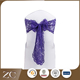 Fashion style good quality purple wedding lace chair sash