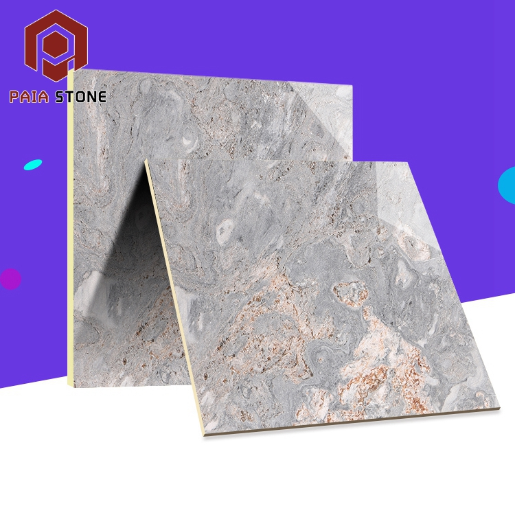 20x20 Milky Grey Composite Exterior Wall Cladding Marble Tile