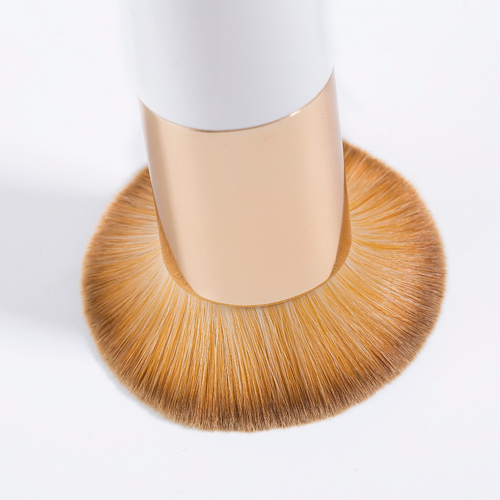 New Chubby Pier makeup Brush Professional Cosmetic Make-up Brush Portable with net Protector Guard Elastic Mesh