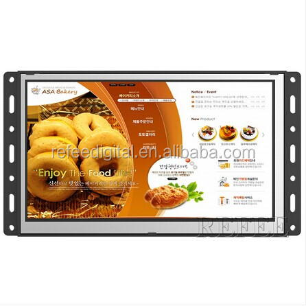 Batteriebetriebene open frame Lcd-monitor mit Android WIFI funktion