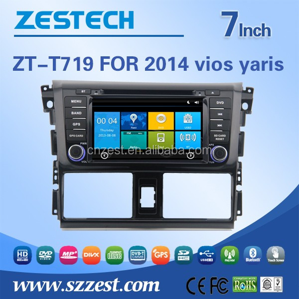 Digital 800*480 HD screen car radio body kits +2 din car DVD GPS for Toyota Vios Yaris 2014 2015 2016 support parking camera in