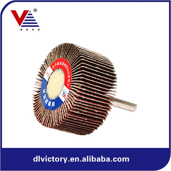 25*6MM Super-Flex Mini Angle Grinder/Mounted Abrasive Flap Wheel with Shaft for Polishing and Grinding