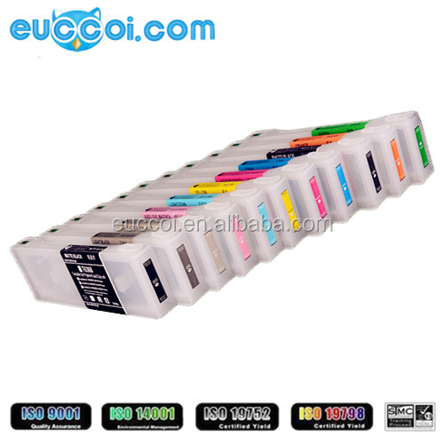 Factory LFP refillable cartridge for EPSON T6361-T636B refillable ink cartridge with chip and ink for Epson Stylus Pro 7900 9900