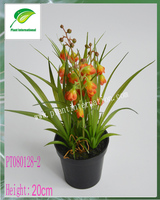 artificial mini potted flowers /flowers and grass arrangements for home decoration
